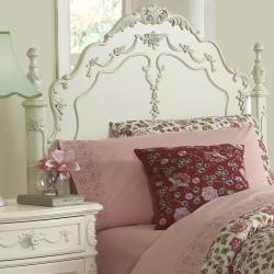 TRIBECCA HOME Fairytale Victorian Princess White Twin-size Bed and End Tables - Thumbnail 1