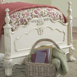 TRIBECCA HOME Fairytale Victorian Princess White Twin-size Bed and End Tables - Thumbnail 2