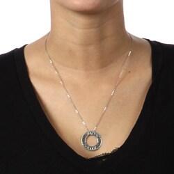La Preciosa Sterling Silver Open Circle 'Commitment' Necklace