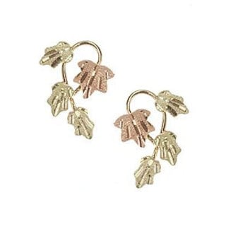 Black Hills Gold Multi-leaf Earrings