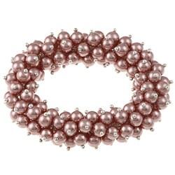 La Preciosa Pink Faux Pearl Stretch Bracelet