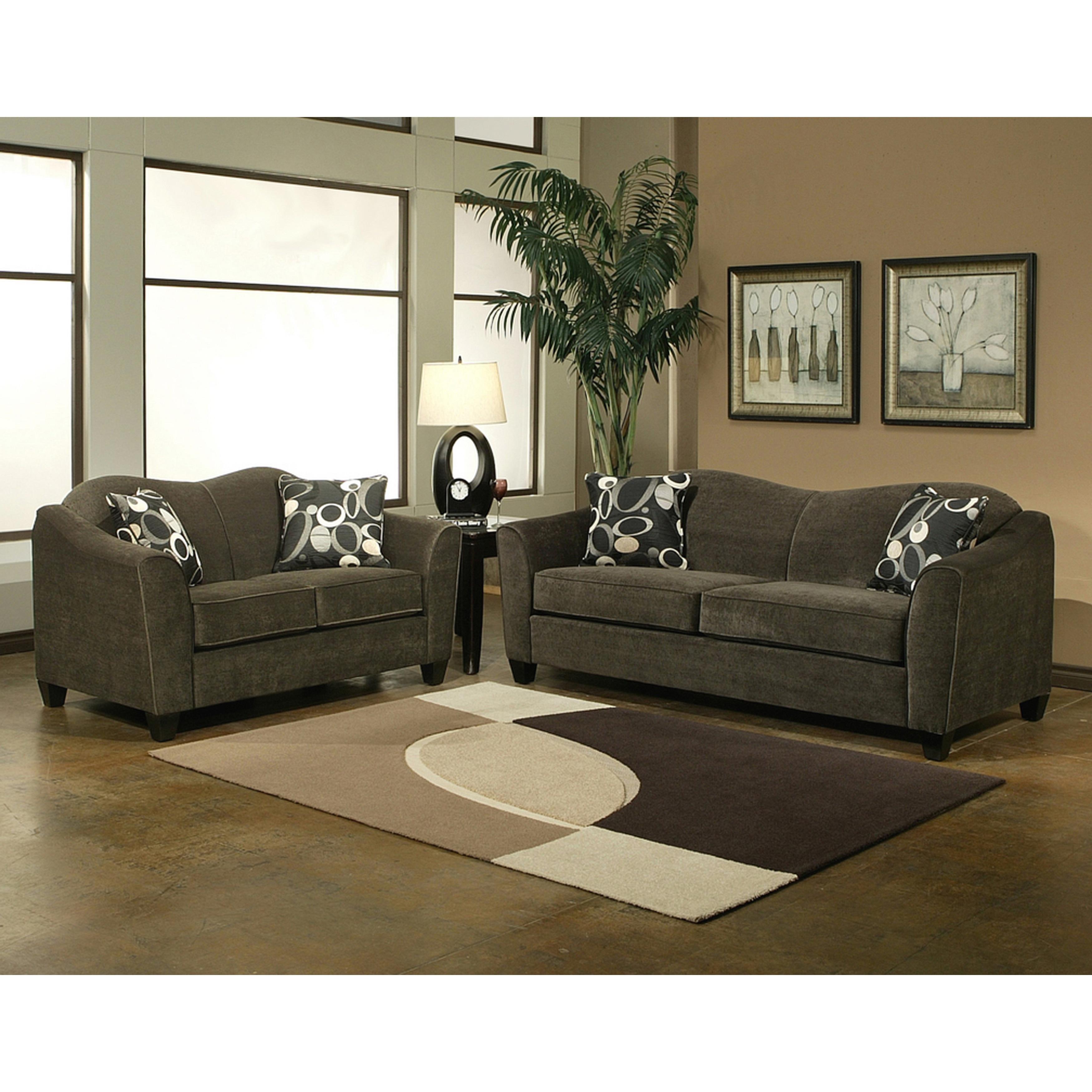 Piera Microsuede Sofa And Loveseat Set