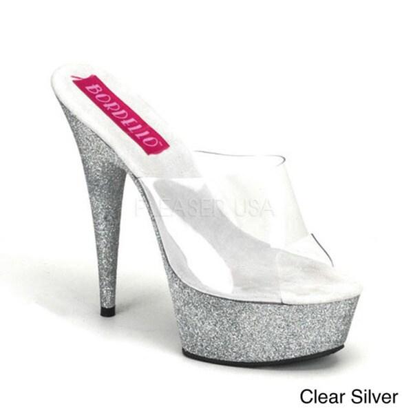 Bordello Women's 'Vivian' Mini Glitter Slip-ons