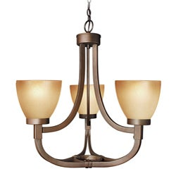 Woodbridge Lighting Wayman 3-light Bronze Chandelier - Thumbnail 0