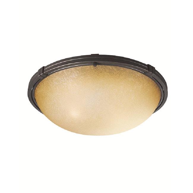 Woodbridge Lighting Wayman 2-light Bronze Flush Mount