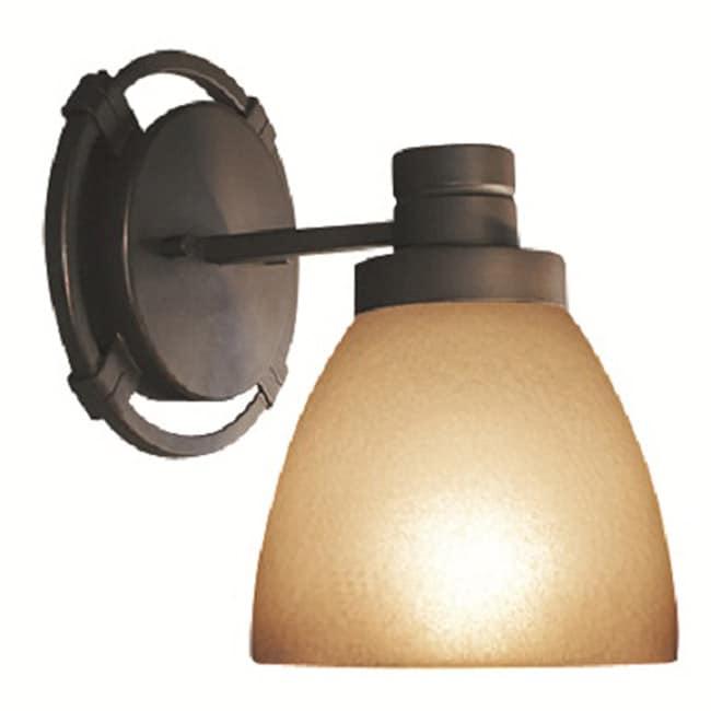 Woodbridge Lighting Wayman 1-light Bronze Bath Sconce