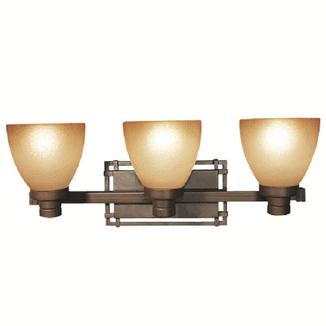 Woodbridge Lighting Wayman 3-light Bronze Bath Bar