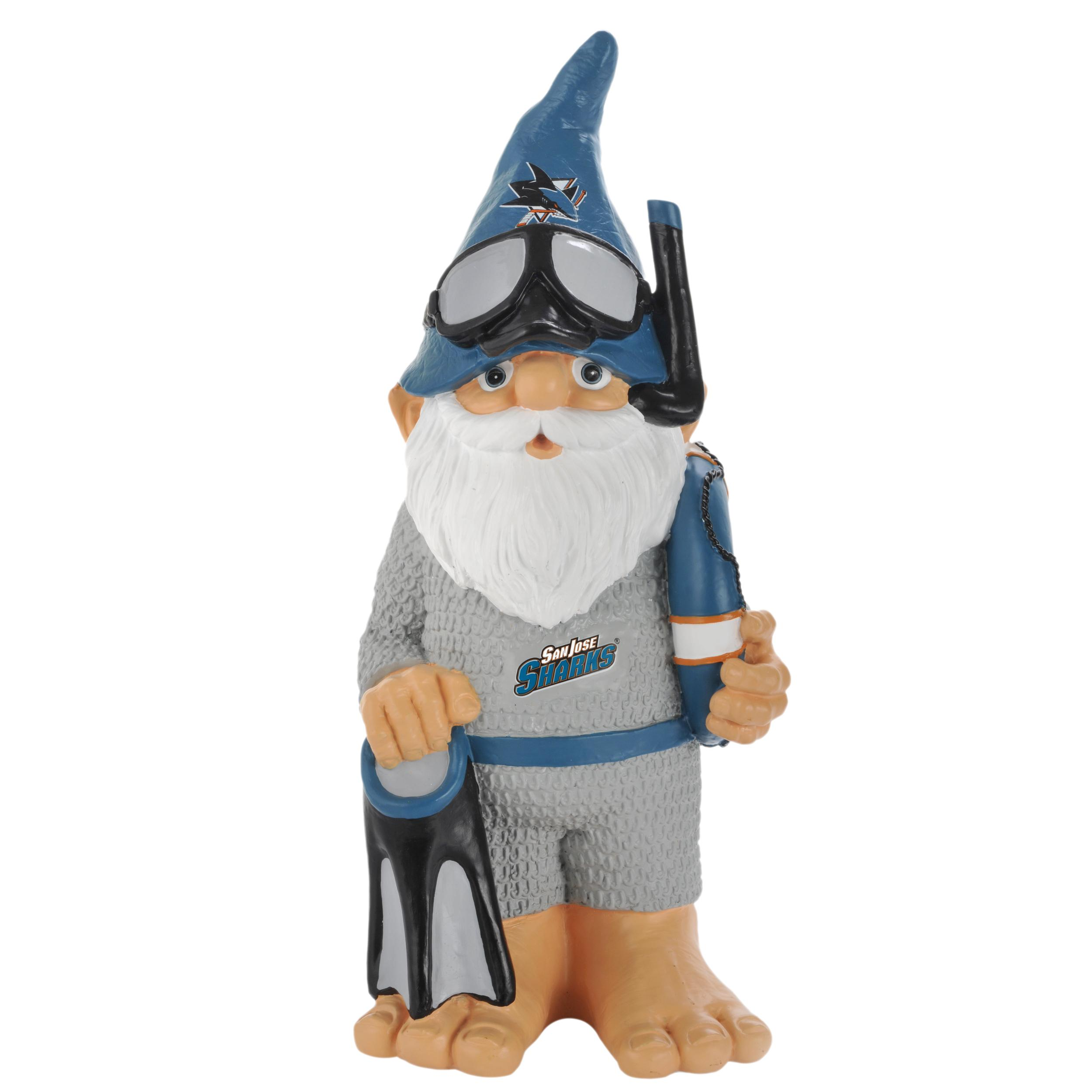 San Jose Sharks 11-inch Thematic Garden Gnome - Thumbnail 0