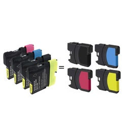 INSTEN Brother Compatible LC-61 Color Ink Cartridge (Pack of 3)