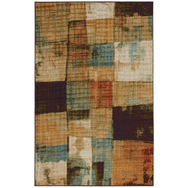 Beige Abstract Rug (5' x 8')