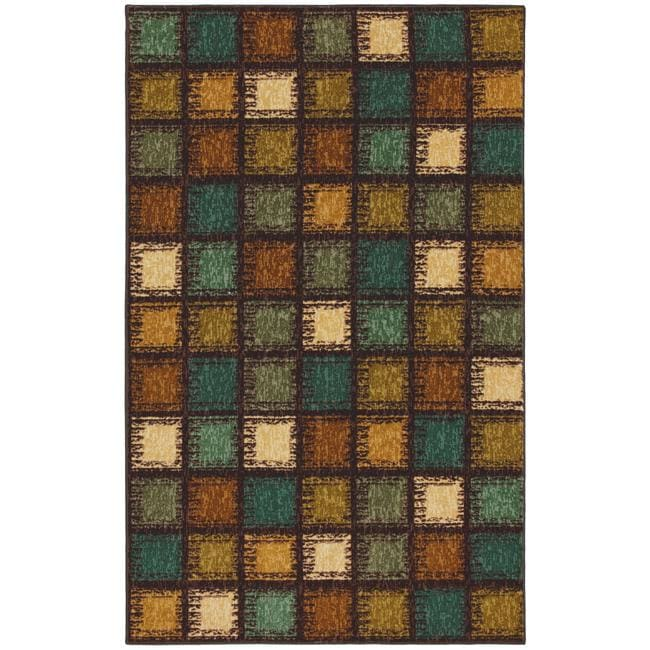 Shop Dumont Brown Ivory Squares Rug 8 X 10 Free