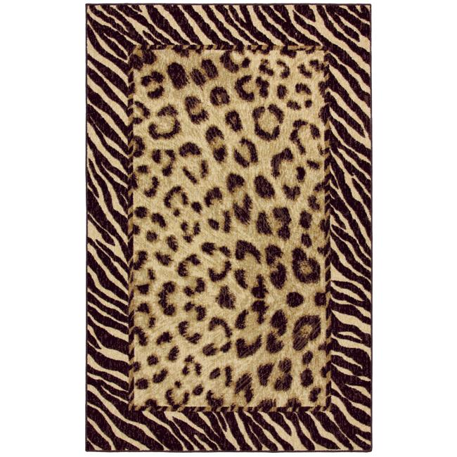 Tigress Ivory/ Brown Animal Rug (8' x 10')