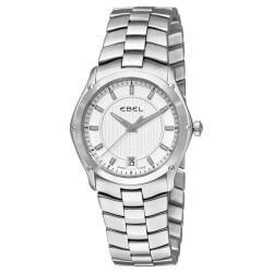 Ebel Women's 'Classic Sport Grande' Stainless Steel Silver Dial Watch