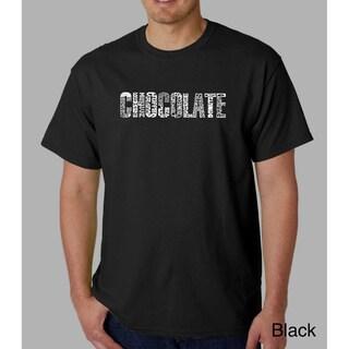 Los Angeles Pop Art Men's Chocolate T-Shirt