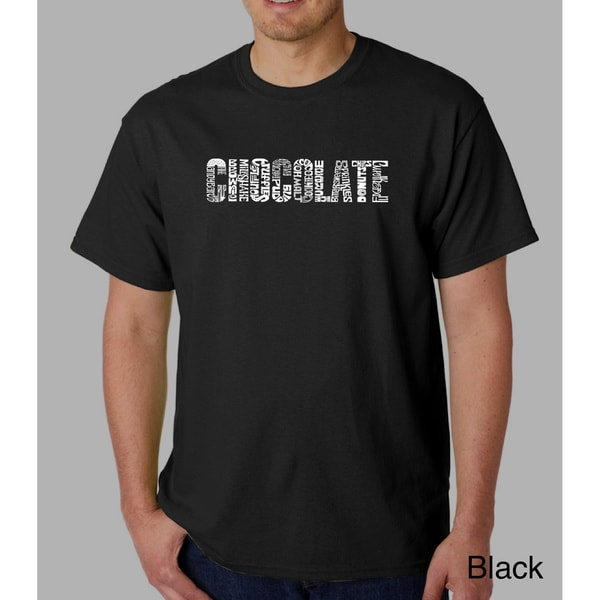Los Angeles Pop Art Mens Chocolate T-Shirt