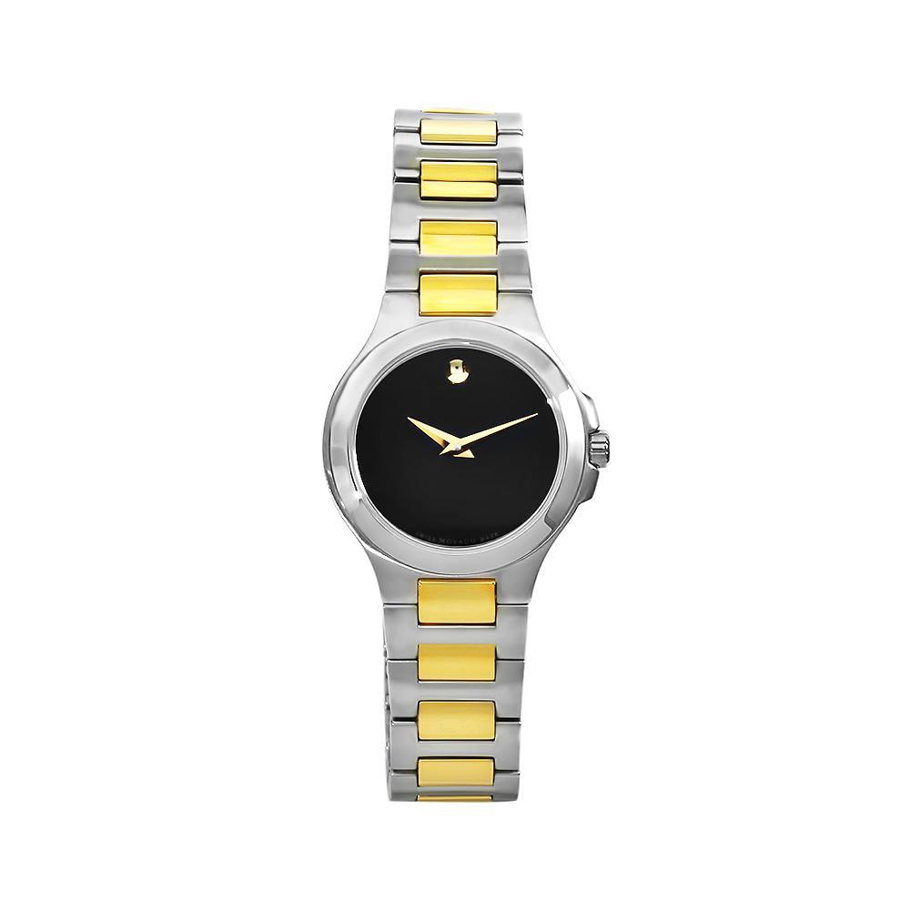 Movado Women's 606182 Museum Stainless Steel Two-tone Bracelet Black Dial Watch - Thumbnail 1