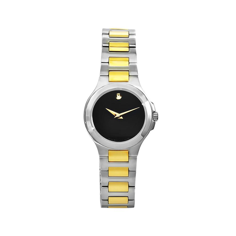 Movado Women's 606182 Museum Stainless Steel Two-tone Bracelet Black Dial Watch - Thumbnail 2