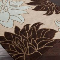 Hand-knotted Beige Wool Area Rug (8' x 11')