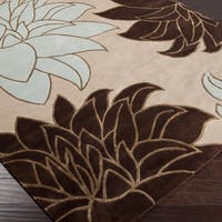Hand-knotted Beige Wool Area Rug (9' x 13')