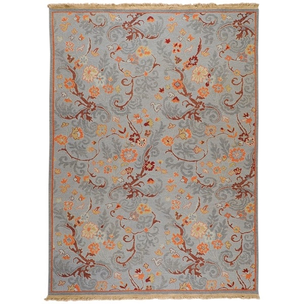 Hand-knotted Reversible Vine Wool Area Rug - 10' x 14'