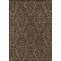 Hand-knotted Wheeler Wool Area Rug (8' Round)