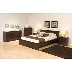 Escala Espresso Full Platform Bed - Thumbnail 1