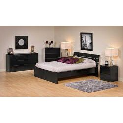 Escala Black Queen Platform Bed - Thumbnail 1