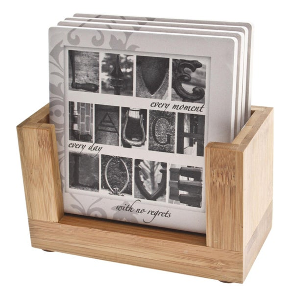 Thirstystone Gypsum Live, Laugh, Love Coaster Set