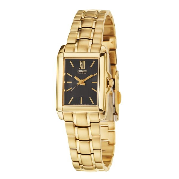 Citizen Women's 'Eco-Drive' Yellow Goldplated Stainless Steel Quartz Watch