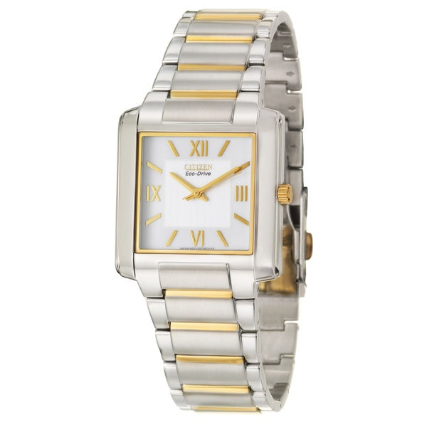 Citizen Men's 'Eco-Drive' Stainless and Yellow Goldplated Steel Quartz Watch