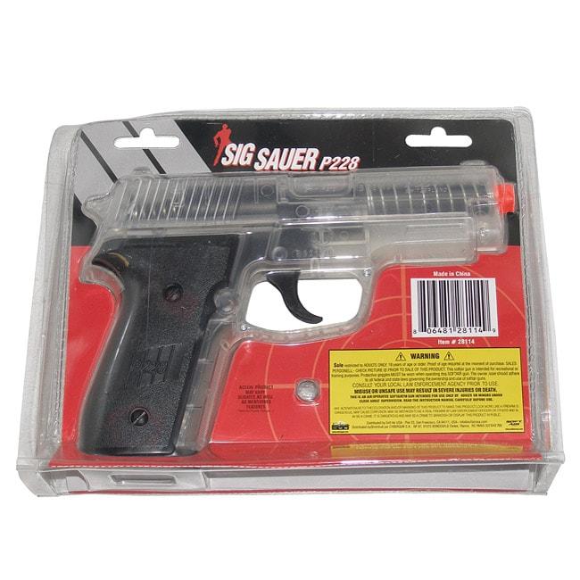Sig Sauer Clear P228 Pistol Spring Airsoft Gun