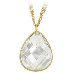 Icz Stonez 18k Gold over Sterling Silver Cubic Zirconia Teardrop Necklace|https://ak1.ostkcdn.com/images/products/5982721/Icz-Stonez-18k-Gold-over-Sterling-Silver-Cubic-Zirconia-Teardrop-Necklace-P13673485a.jpg?impolicy=medium