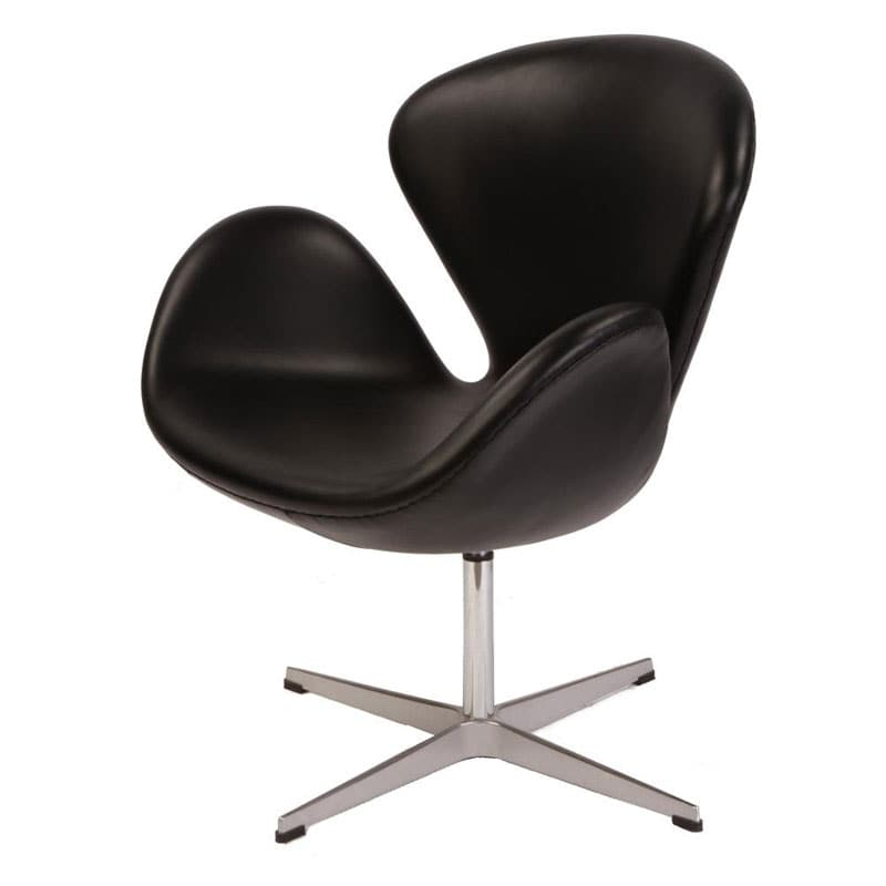 Swan Leather Chair - Thumbnail 0
