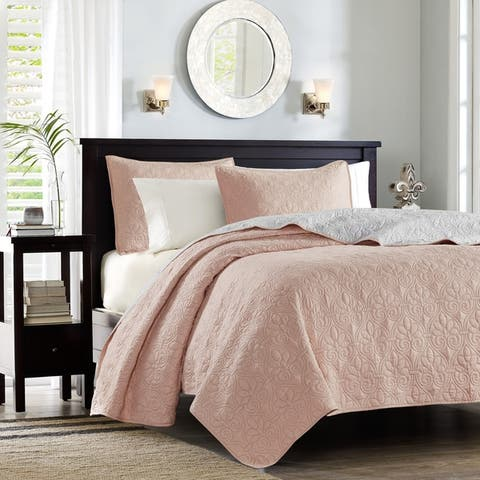 Madison Park Mansfield Reversible Coverlet Set