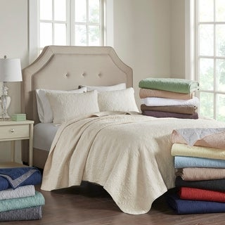madison park mansfield 3piece quilted pattern coverlet mini set
