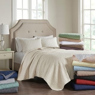Madison Park Mansfield Quilted Pattern Coverlet Mini Set. Quilts   Bedspreads For Less   Overstock com