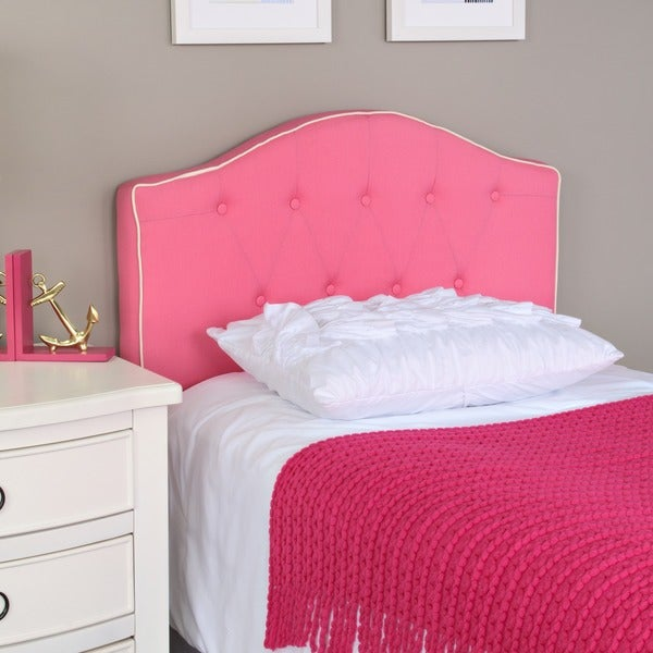 Shop Pink Fabric Twin Size Headboard Free Shipping Today