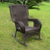 International Caravan San Tropez Resin Wicker Aluminum Porch Rocker