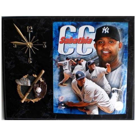 Yankees CC Sabathia Clock Plaque