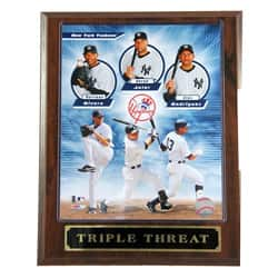 Yankees Triple Threat Plaque|https://ak1.ostkcdn.com/images/products/5982962/Yankees-Triple-Threat-Plaque-P13673658.jpg?impolicy=medium