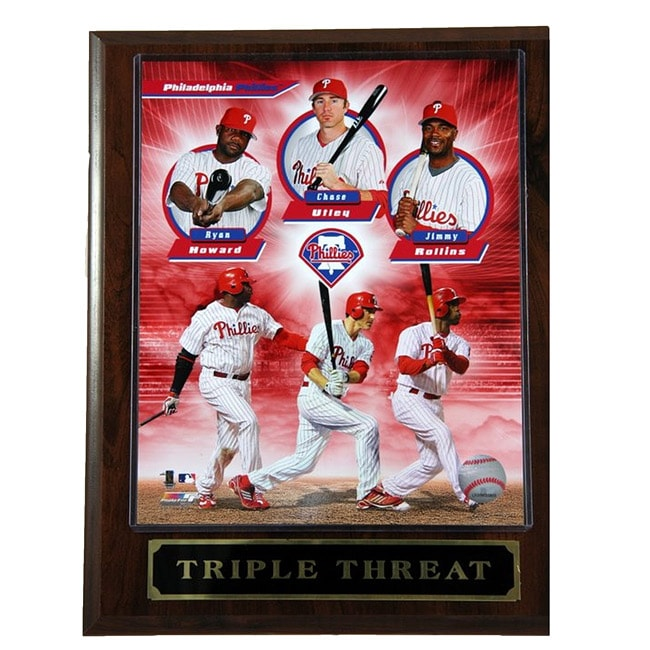 Phillies Triple Threat Plaque