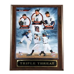 Detroit Tigers Triple Threat Plaque