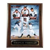 Detroit Tigers Triple Threat Plaque