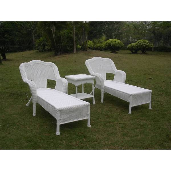 international caravan resin wicker outdoor 3 piece chaise. Black Bedroom Furniture Sets. Home Design Ideas