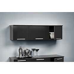 Yaletown Black Wall-mounted Hutch