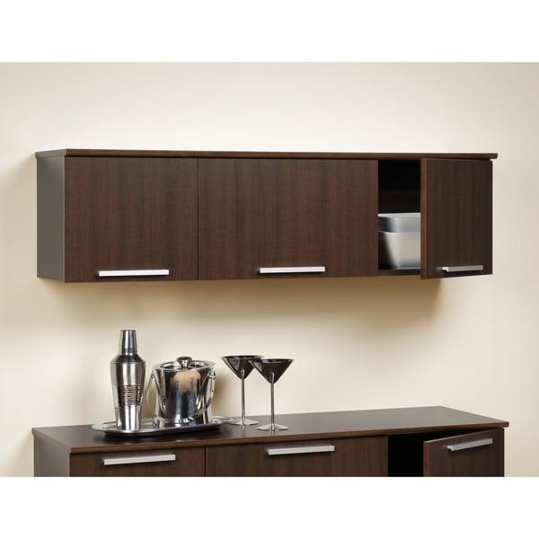 Yaletown Espresso Wall Mounted Hutch