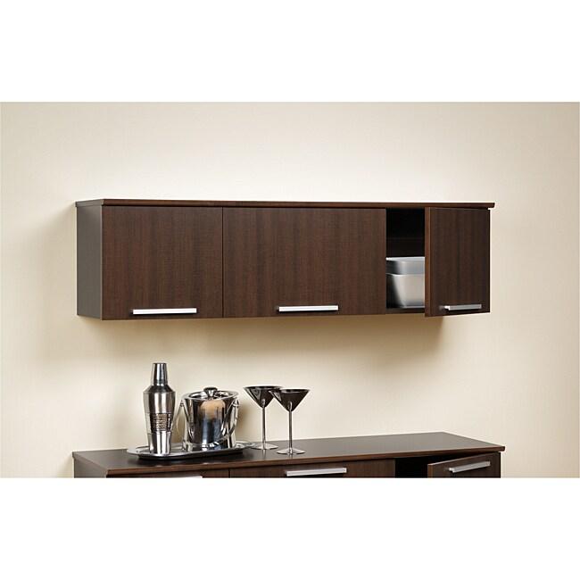 Yaletown Espresso Wall-mounted Hutch