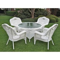 International Caravan Resin Wicker Outdoor 5-piece Dining Set