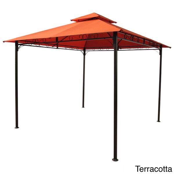 international caravan st kitts vented gazebo free shipping today overstockcom 13673873 - Terra Cotta Tile Canopy 2015