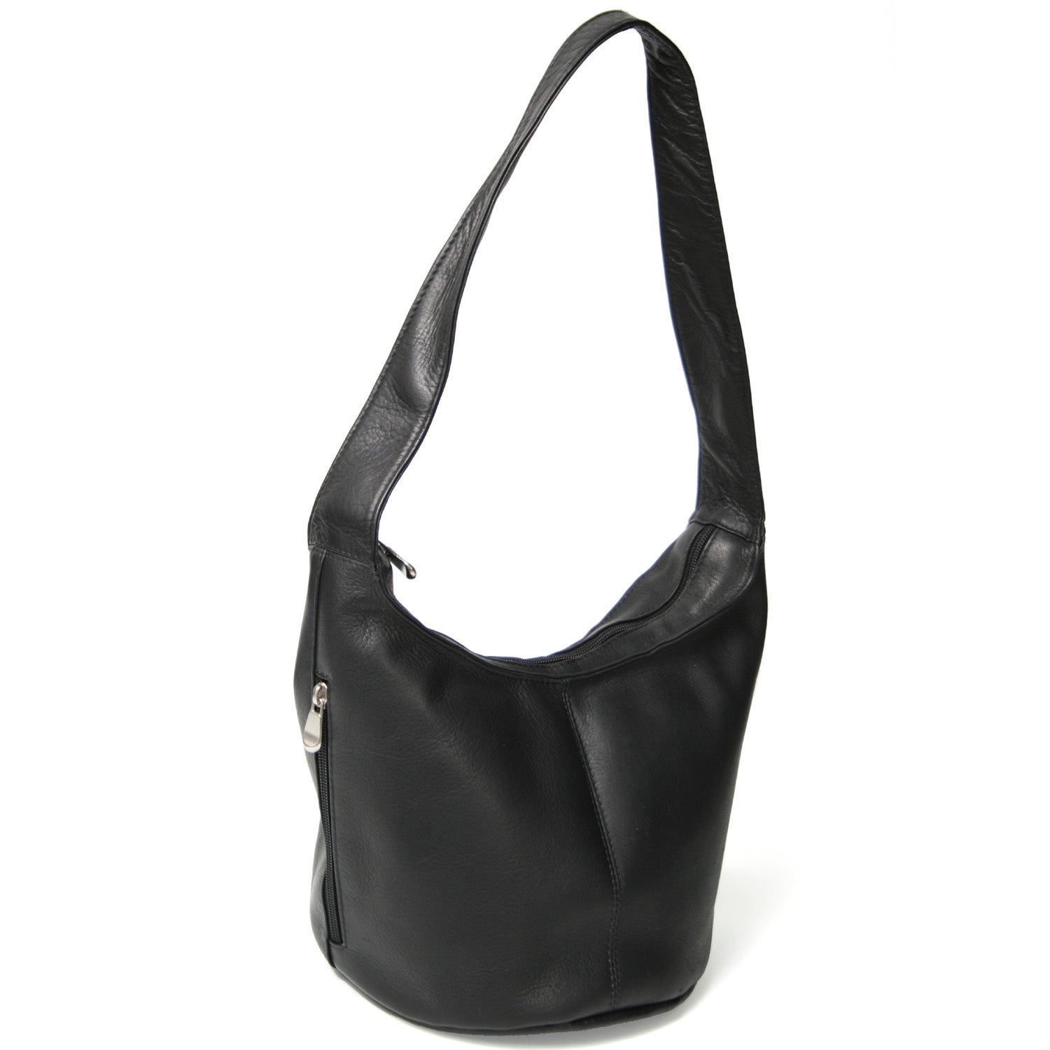 Royce Leather Women s Vaquetta Hobo Bag with Side Zip Pocket